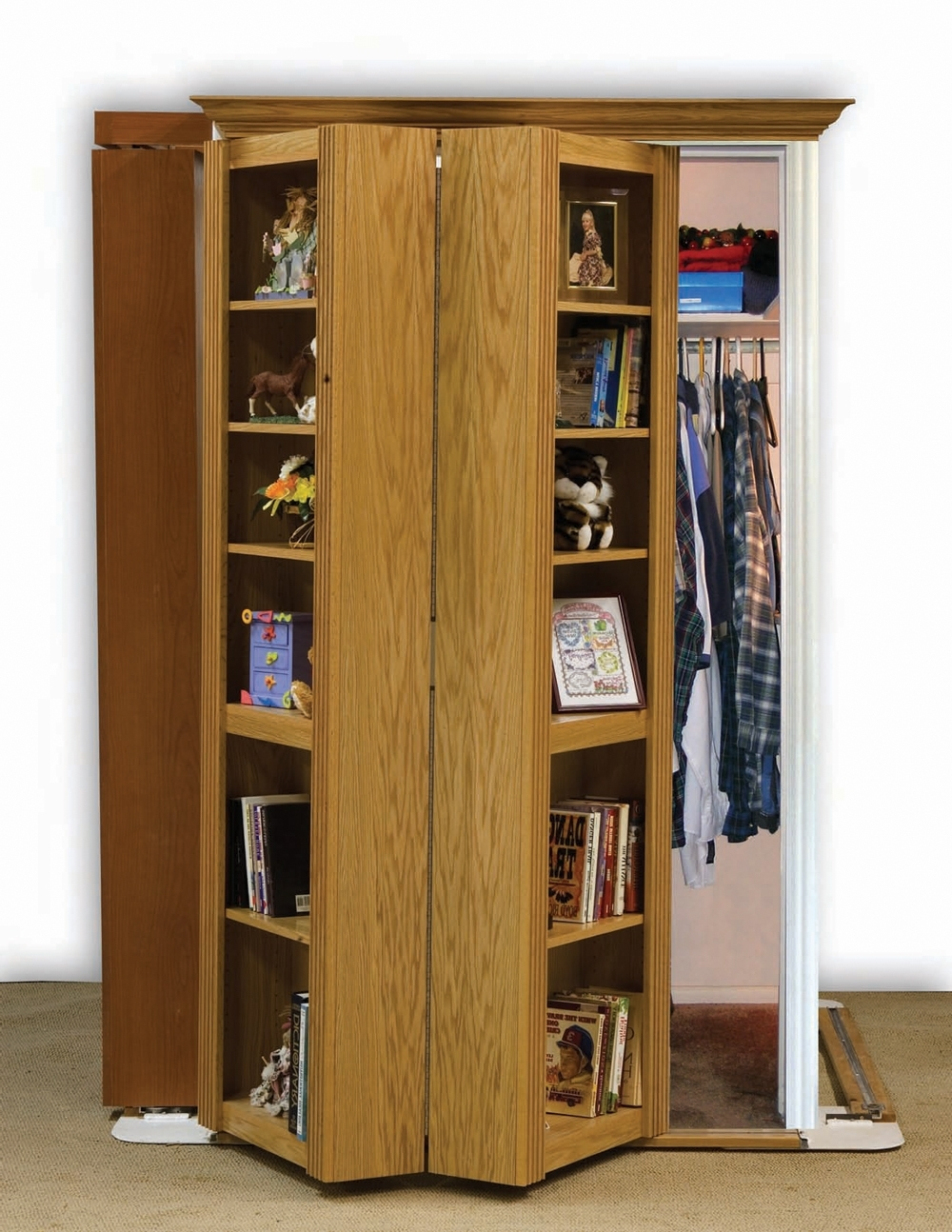 Well Known Folding Bookcase Door : Doherty House – Practical Folding Bookcase With Bifold Bookcases (View 13 of 15)