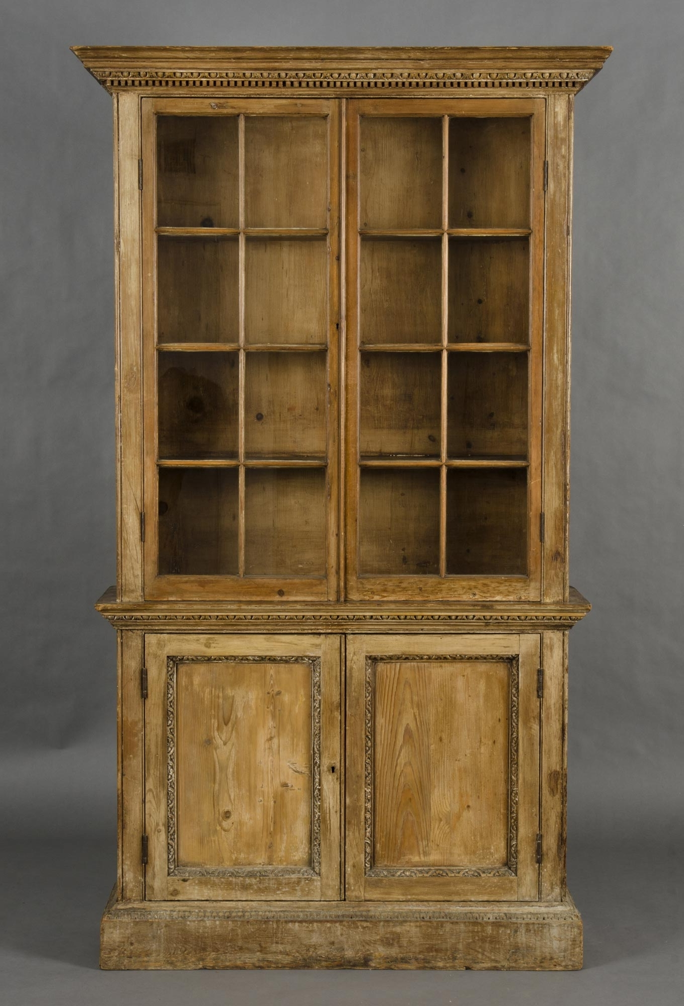 Well Known Glazed Bookcases In Product » Pair Pine Glazed Bookcases (View 13 of 15)