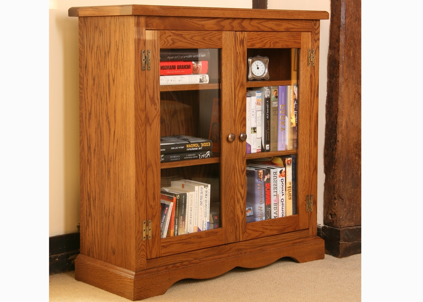 Well Known Glazed Bookcases Regarding Andrena Marina Low Glazed Bookcase (View 15 of 15)