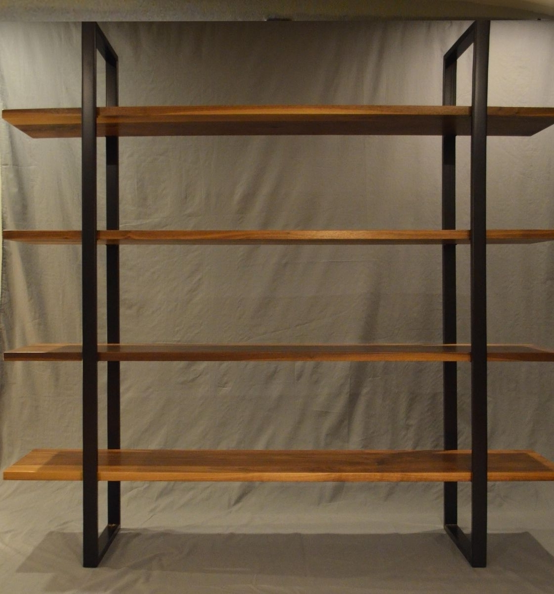 Well Known Handmade Floating Walnut And Steel Bookcasefabitecture For Metal Bookcases (View 14 of 15)