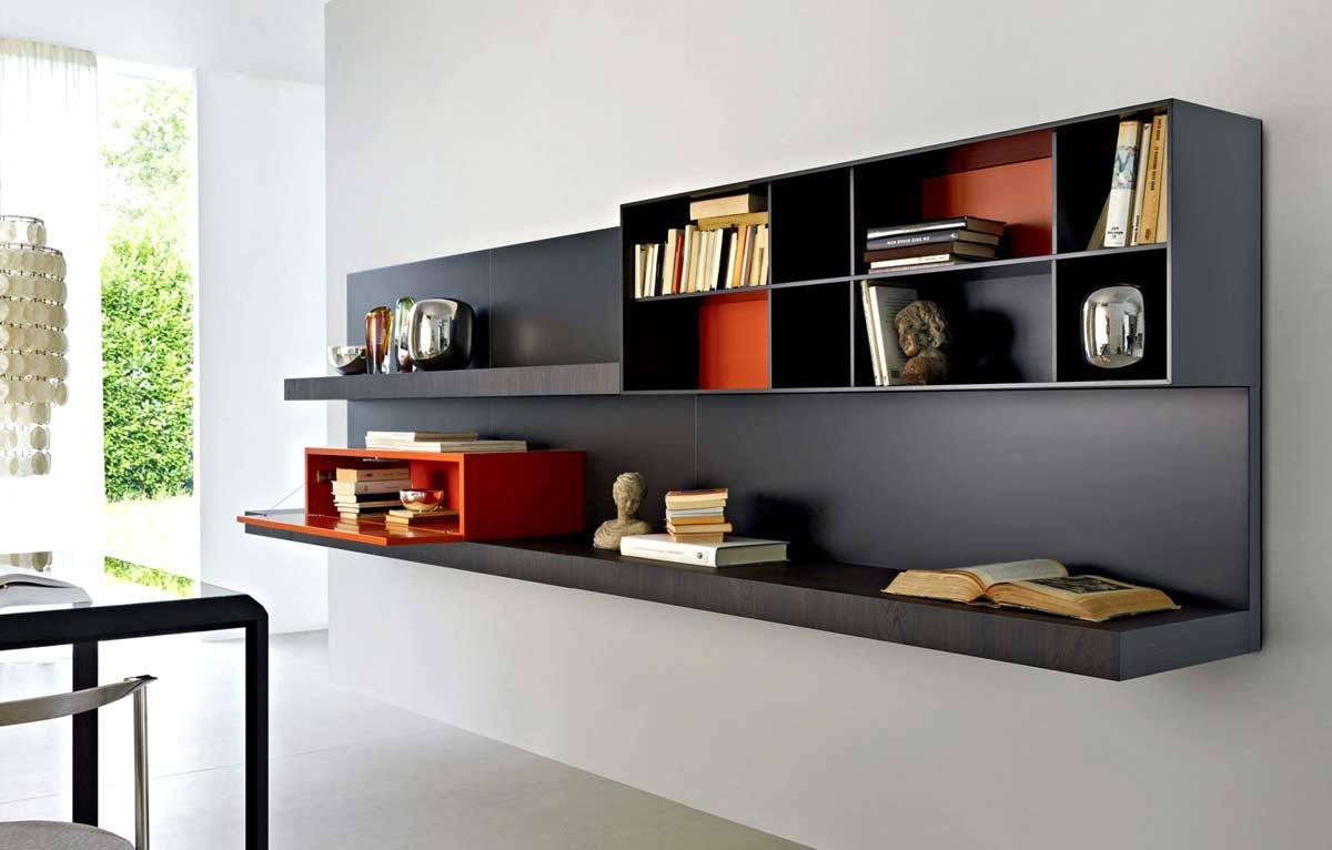 Well Known Hanging Bookcases Regarding Impressive Bookcase Partition To Manage Your Interior Space (View 15 of 15)