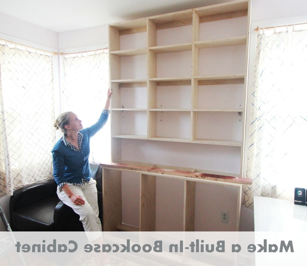 Well Known How To Make Built In Bookcases: 8 Steps (with Pictures) In Bookshelves With Cabinet Base (View 6 of 15)