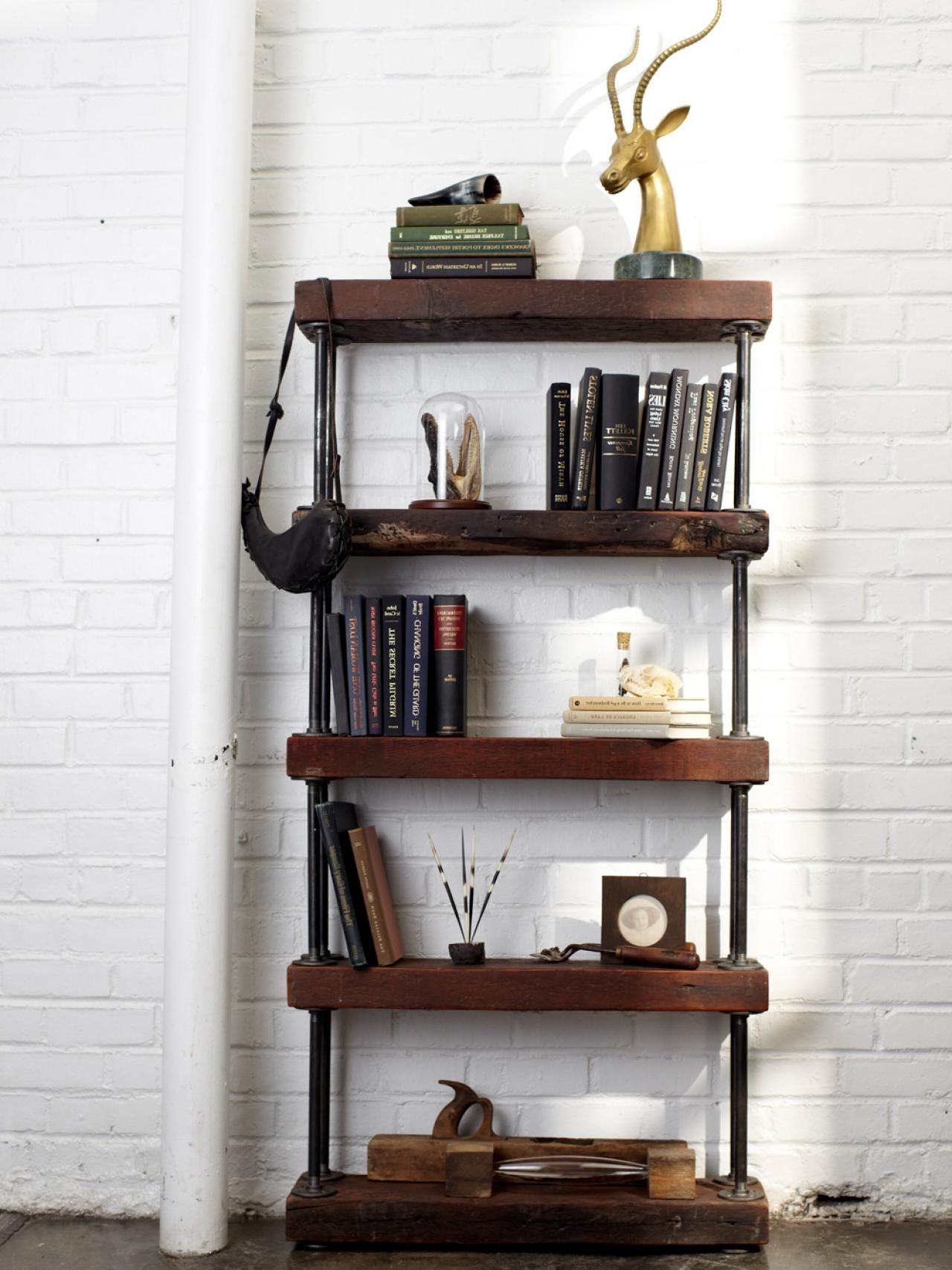Well Known Industrial Bookcases For Industrial Rustic Bookshelf (View 13 of 15)