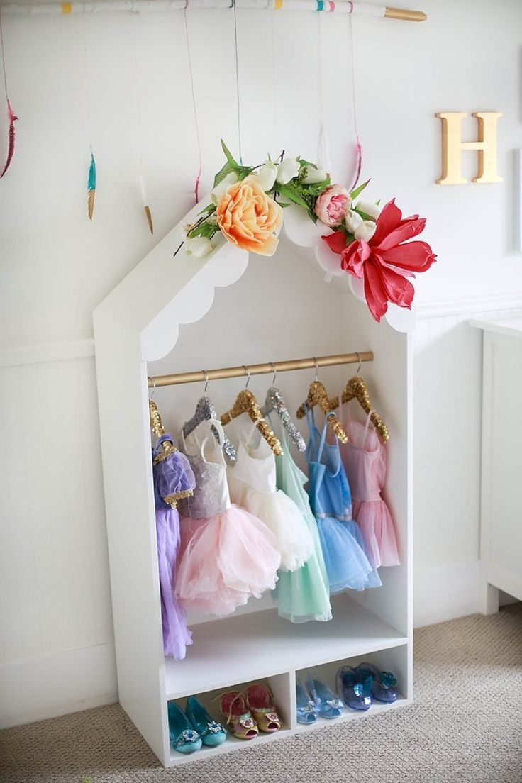 Well Known Kids Dress Up Wardrobes Closet With Girl's Dress Up Center { Free Diy Plans (View 13 of 15)