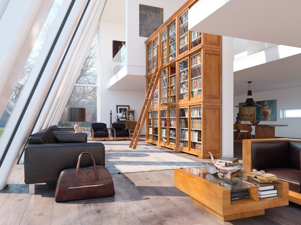 Well Known Living Room Design: Huge Bookcase – Living Rooms For Book Lovers Intended For Huge Bookcases (View 15 of 15)