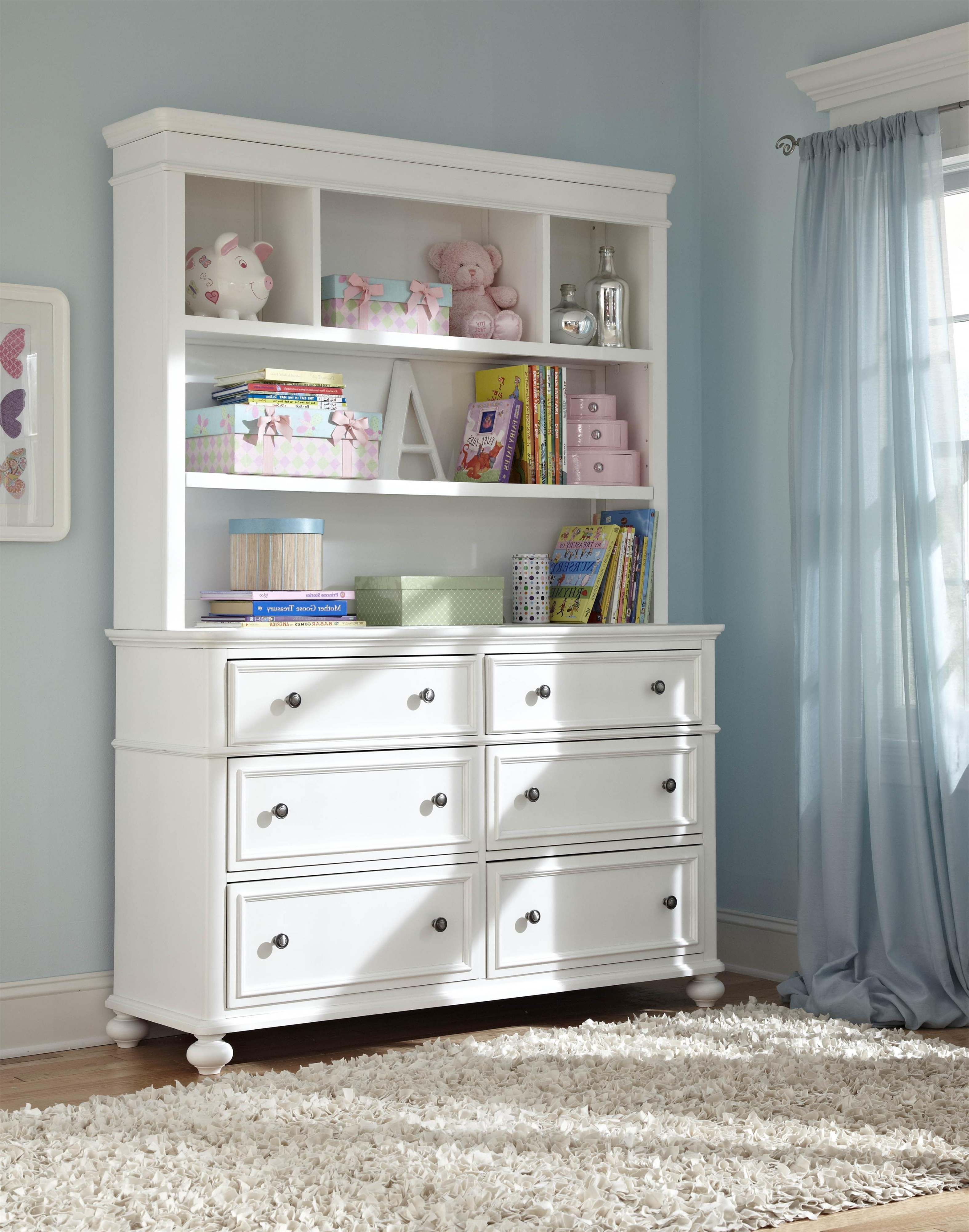 Well Known Madison Classic Dresser With 6 Drawers And Bookcase Hutch With Dresser And Bookcases Combo (View 2 of 15)