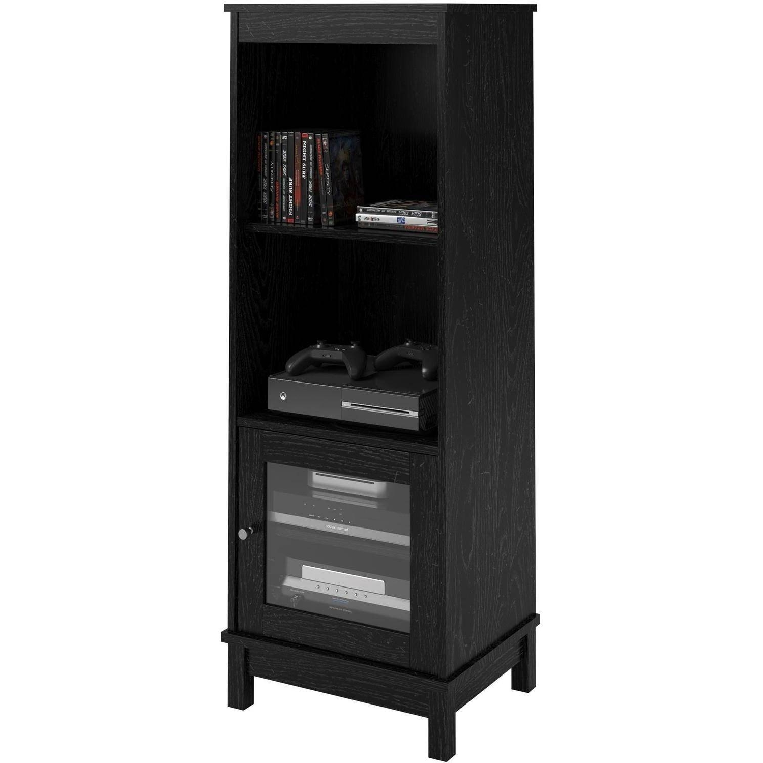 "Well Known Media Bookcases Pertaining To Mainstays Entertainment Center Bundle For Tvs Up To 55"", Multiple (View 7 of 15)"
