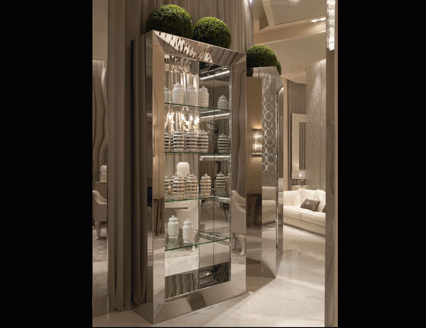 Featured Photo of Mirrored Bookcases