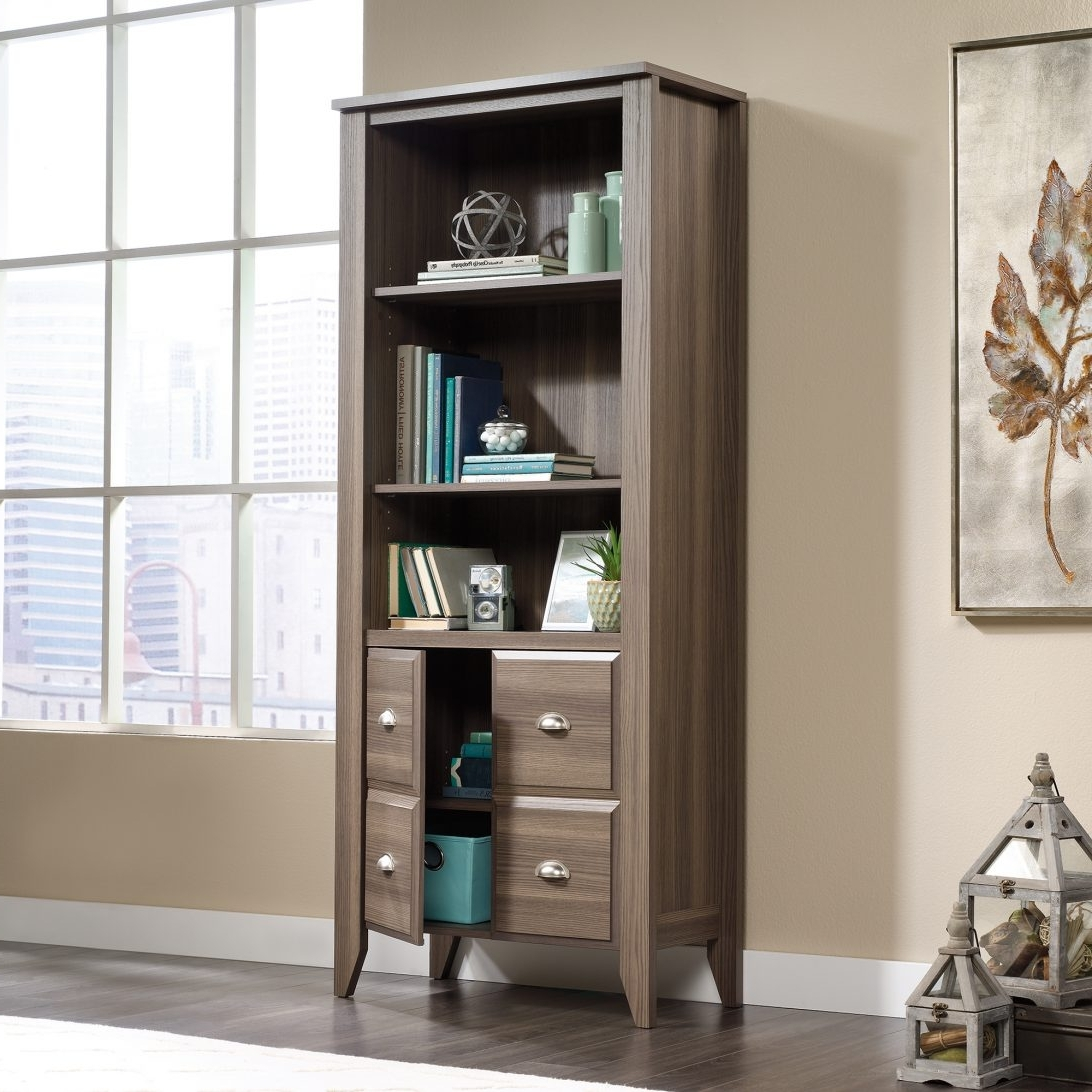 Well Known Off White Bookcases Within Off White Bookcases And Shelves Plus Sauder Shoal Creek Bookcase (View 5 of 15)
