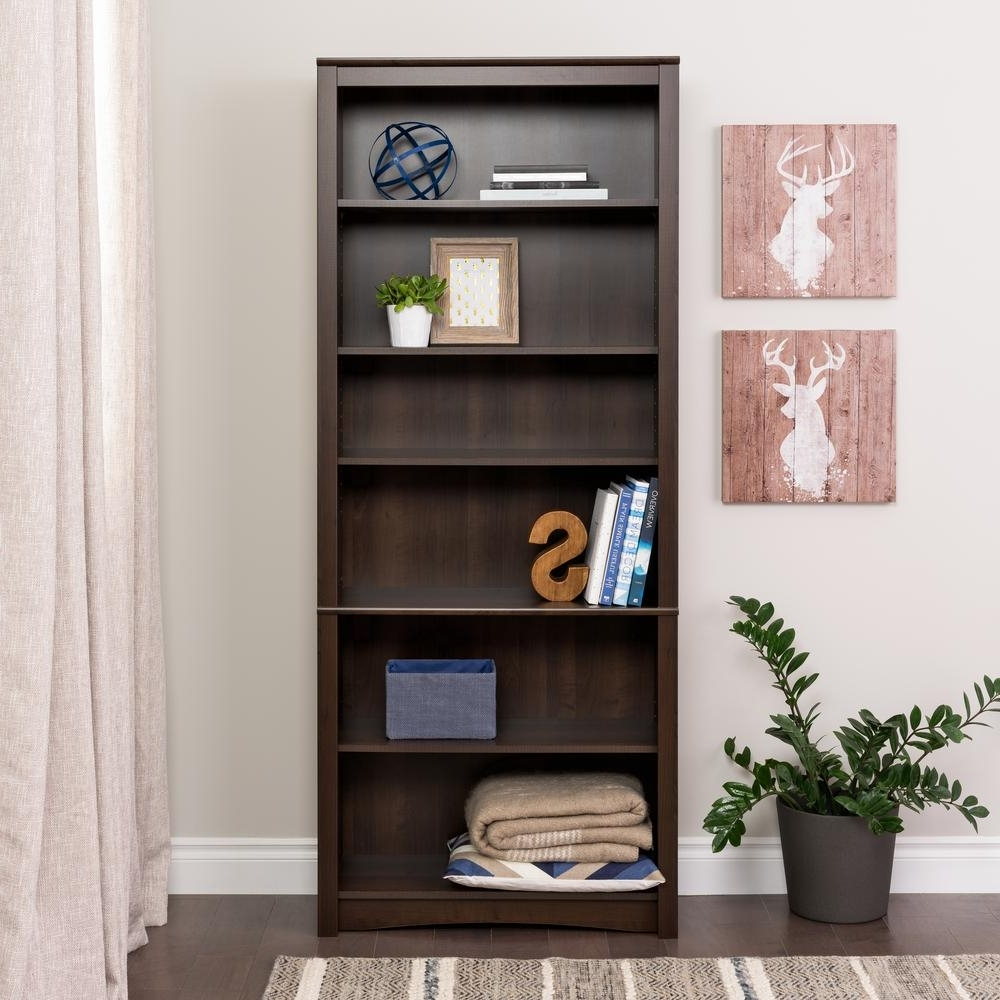 Well Known Prepac Espresso Open Bookcase Edl 3277 K – The Home Depot Throughout Espresso Bookcases (View 1 of 15)