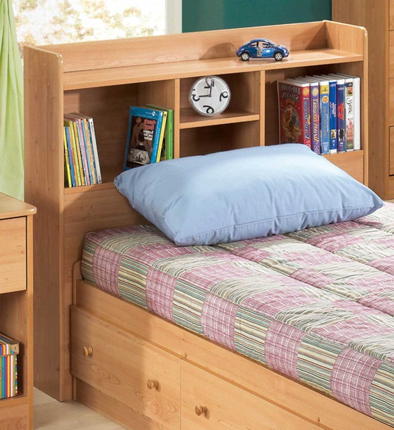 Well Known Queen Storage Bed With Bookcase Headboard And Lamps – Amys Office Within Queen Size Bookcases Headboard (View 2 of 15)
