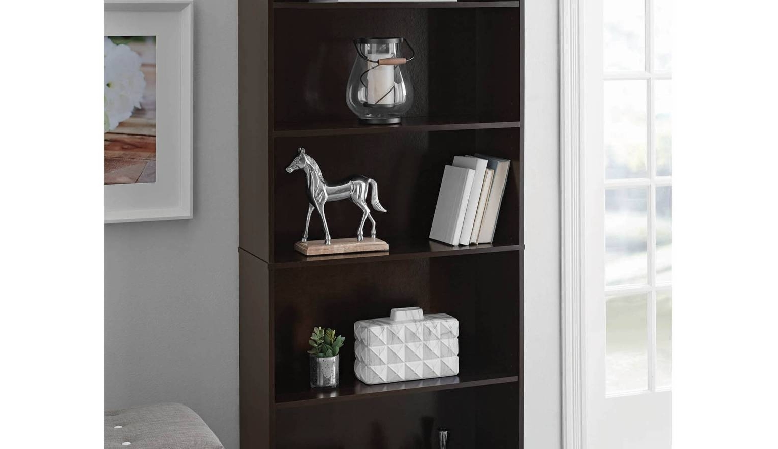 Well Known Room Essentials 5 Shelf Bookcases With Shelf : Tall Narrow Bookcase Awesome 7 Shelf Bookcase Belgravia (View 13 of 15)