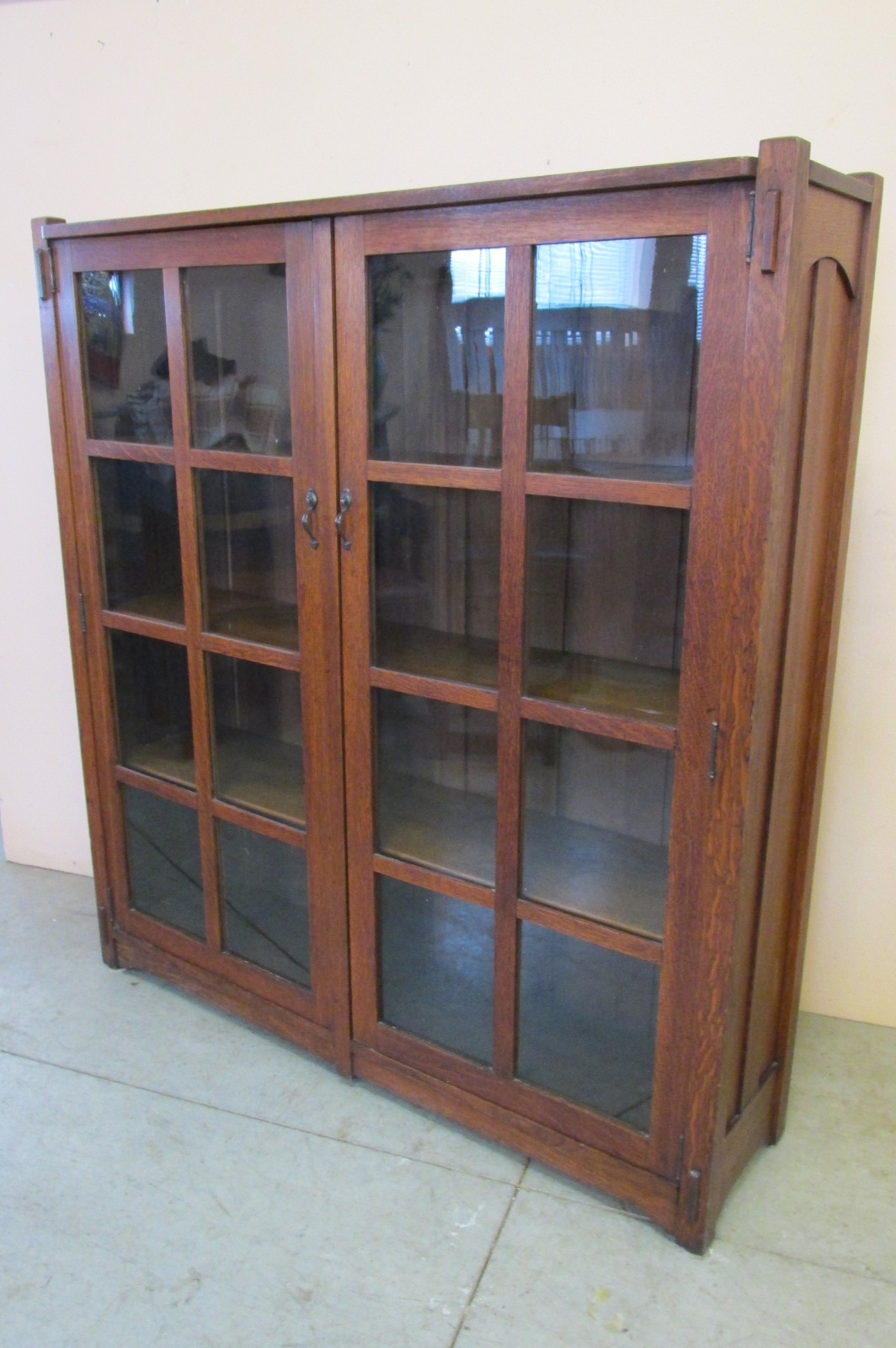 Well Known Stickley Bookcases Pertaining To Stickley Brothers Bookcase « Phil Taylor Antiques – Ottumwa,ia (View 10 of 15)