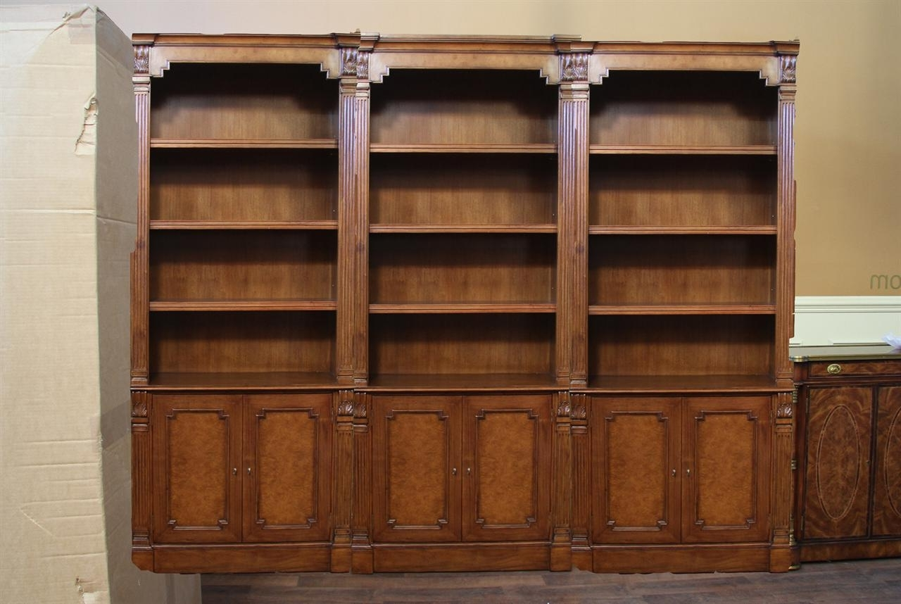 Well Known Traditional Bookcases Within Traditional Walnut Bunching Bookcase A High End Reproduction (View 2 of 15)