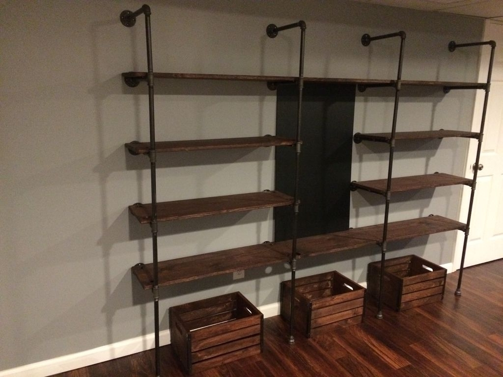 Well Known Unbelievable Plumbing Pipe Shelves Astonishing Design Homemade In Pipe Bookcases (View 4 of 15)