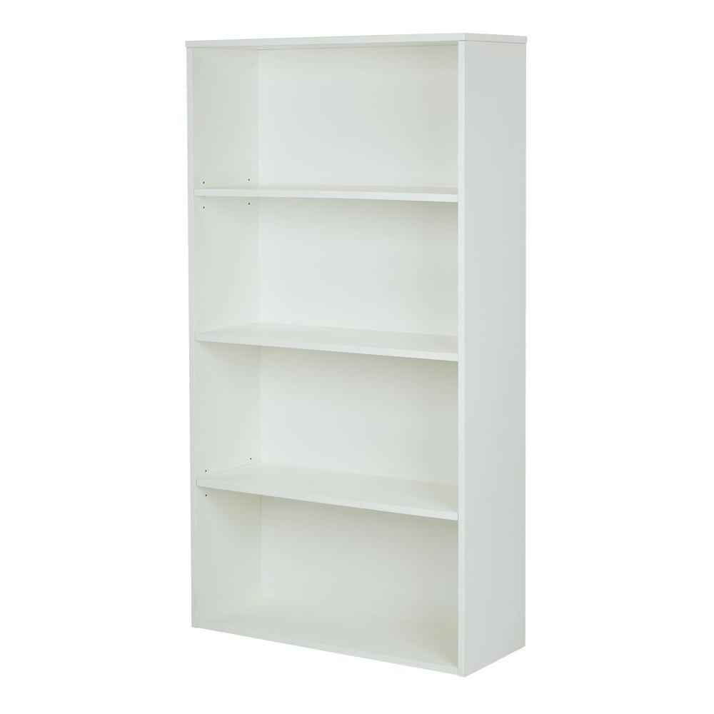 Well Known White Bookcases Regarding Pro Line Ii Prado White Adjustable Open Bookcase Prd3260 Wh – The (Gallery 14 of 15)