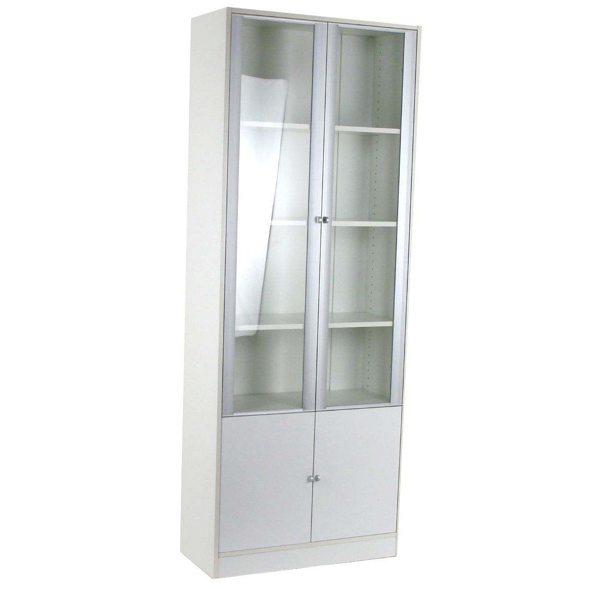 Well Known White Bookcases With Doors In Bookcase Wonderful With Bottom Doors Photo Concept White On (View 8 of 15)