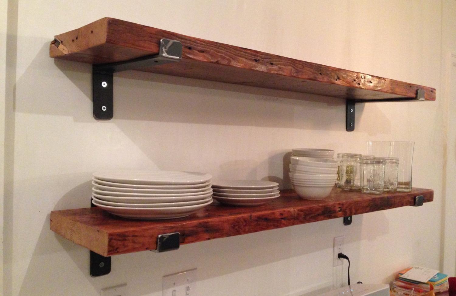 Well Known Wood For Shelves With Regard To Kitchen Shelf Brackets Wood Wall Reclaimed Inspirations Shelves Of (View 10 of 15)