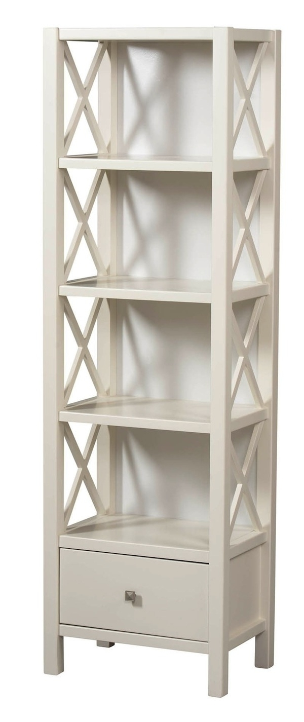 Well Liked 22 Dazzling Narrow Bookcase Concept Pertaining To Tall White Bookcases (View 11 of 15)