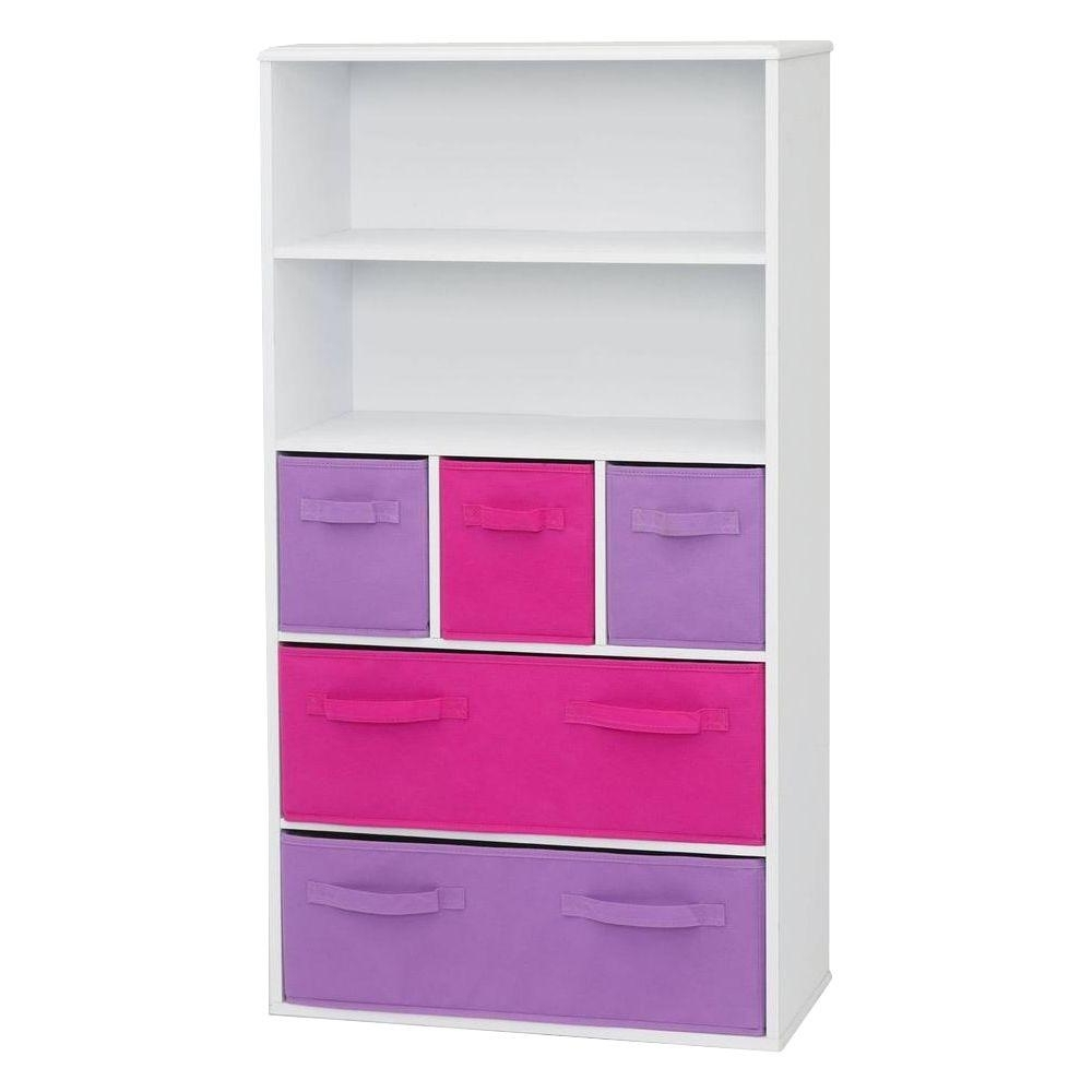 Well Liked 4d Concepts Beech Storage Kids Bookcase 12355 – The Home Depot Intended For Girls Bookcases (View 15 of 15)