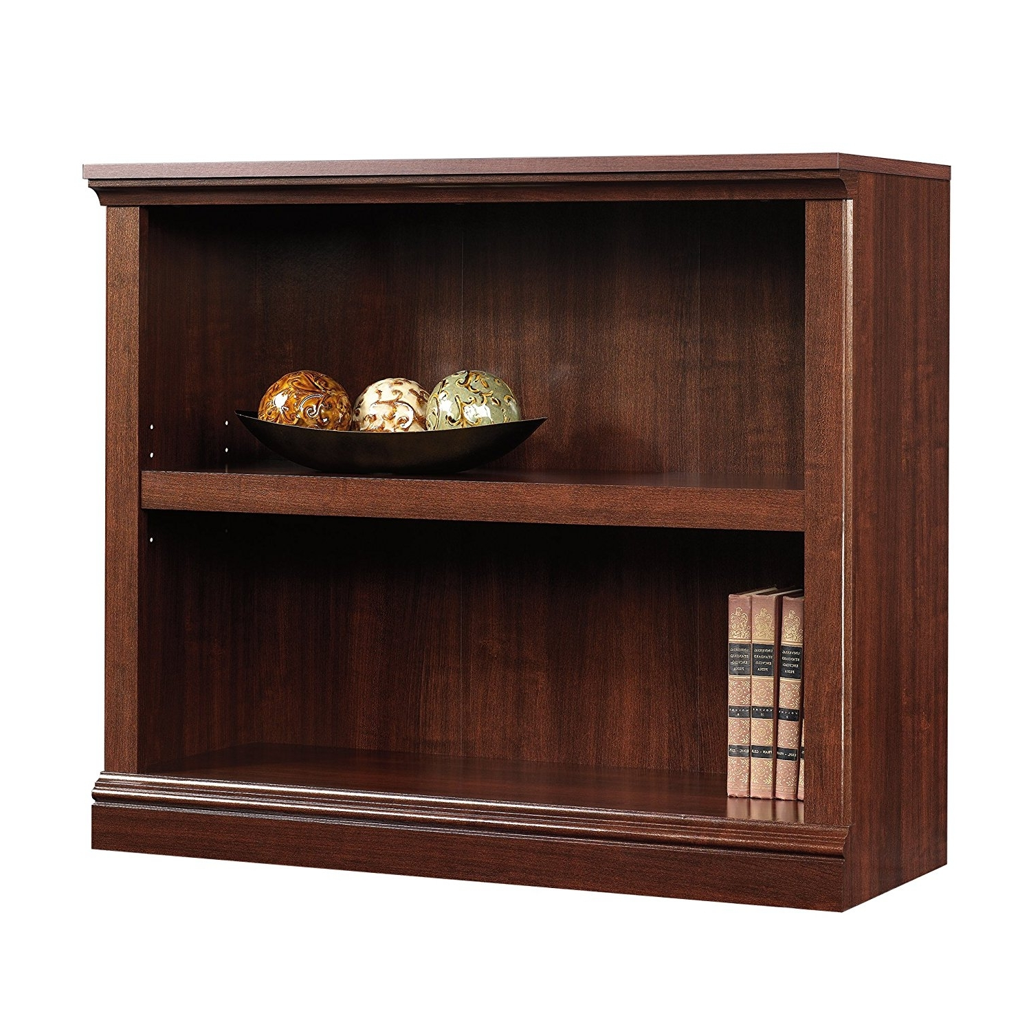 Well Liked Amazon: Sauder 2 Shelf Bookcase, Select Cherry Finish: Kitchen With Regard To Amazon Bookcases (View 15 of 15)
