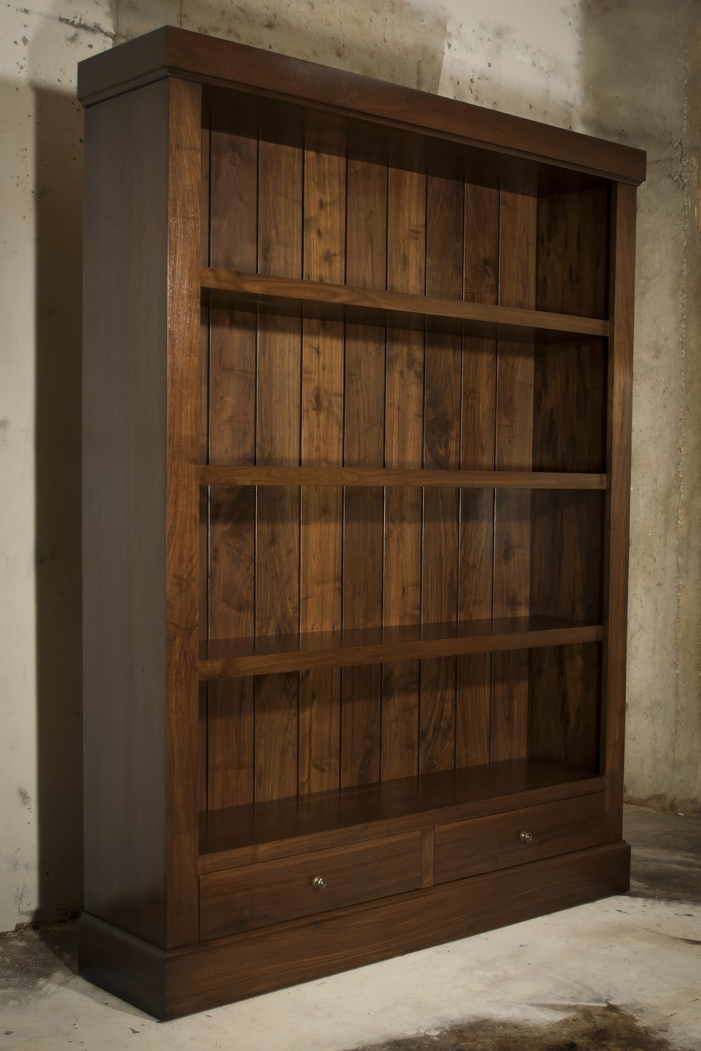 Well Liked Atlanta, Ga Custom Bookcase & Library Design — Atlanta Custom With Walnut Bookcases (View 13 of 15)
