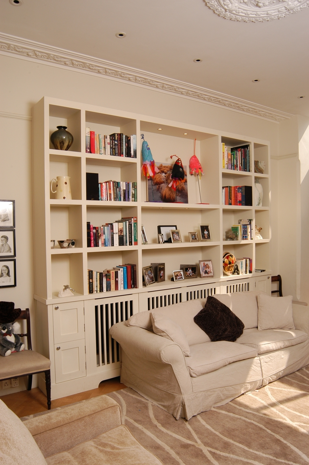 Featured Photo of Radiator Cover With Bookcases Above