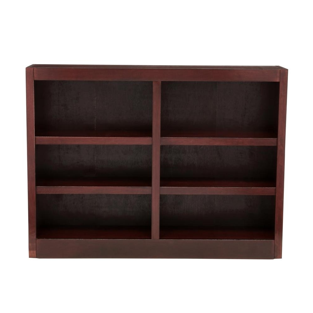 Well Liked Concepts In Wood Midas Double Wide 6 Shelf Bookcase In Cherry Inside Cherry Wood Bookcases (View 15 of 15)