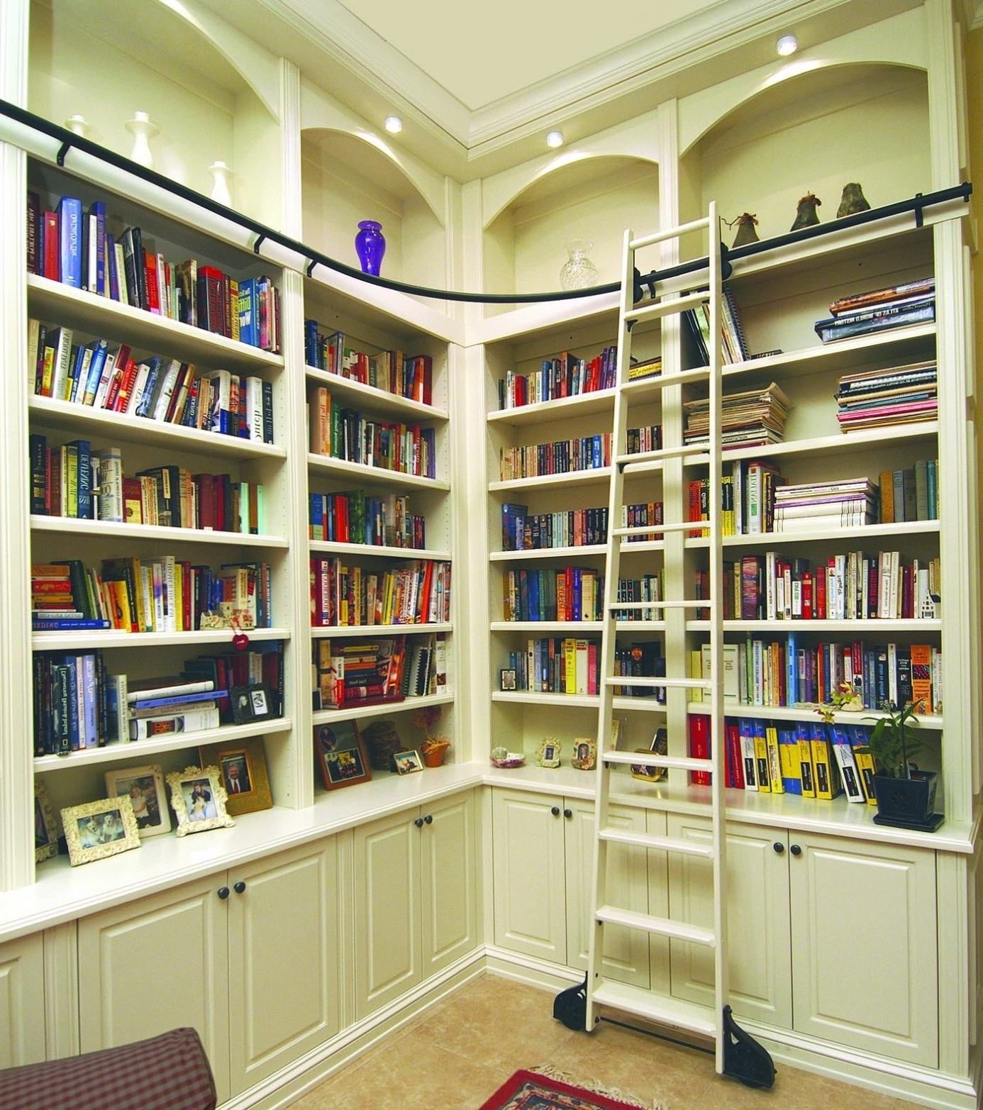 Well Liked Custom Bookcases – Custom Built Library – Wood Wall Units Inside Built In Library Shelves (View 5 of 15)