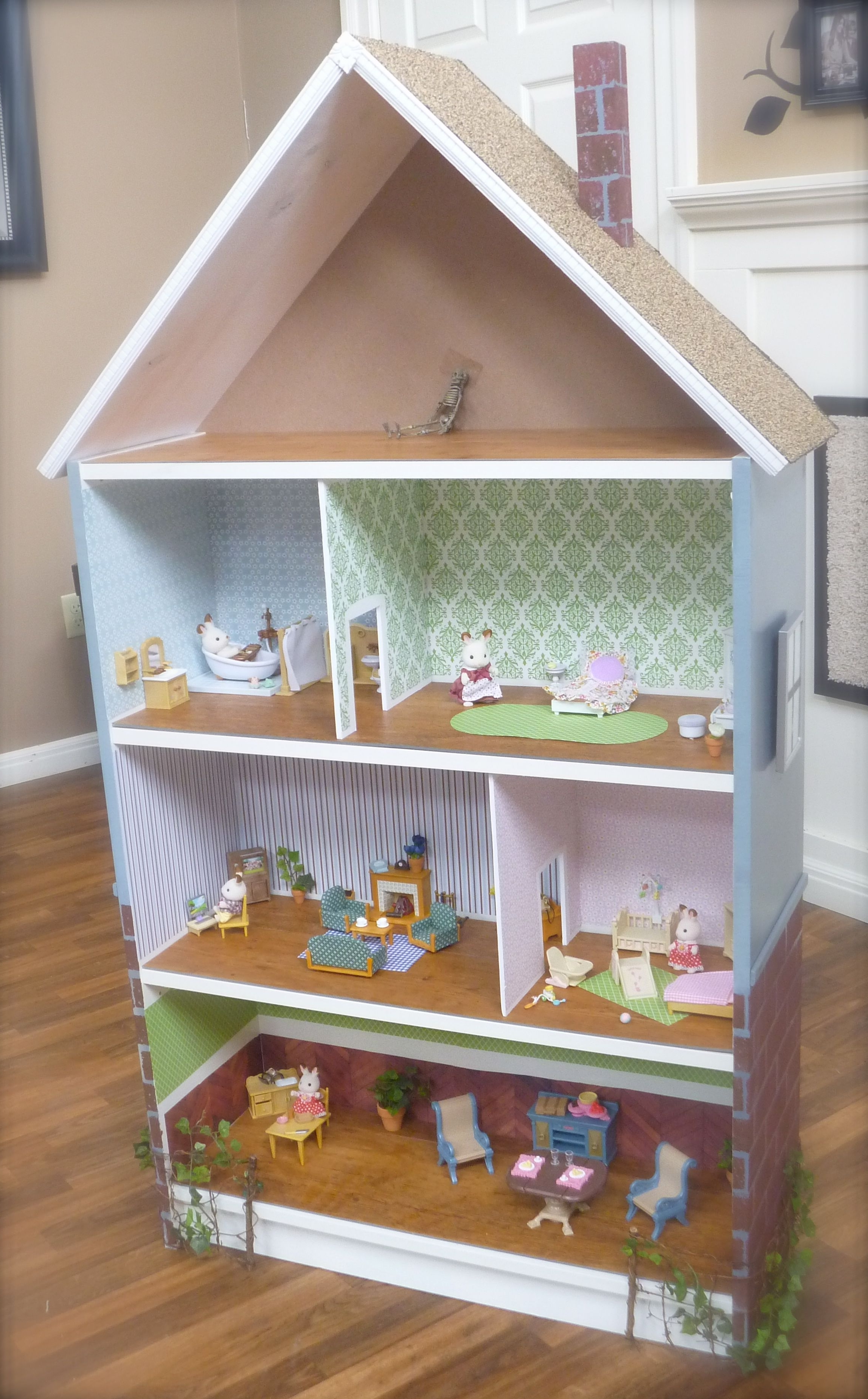 Well Liked Dollhouse Bookcase: Beach Cottage, Brick Row House — Cute Ikea With Regard To Dollhouse Bookcases (View 15 of 15)