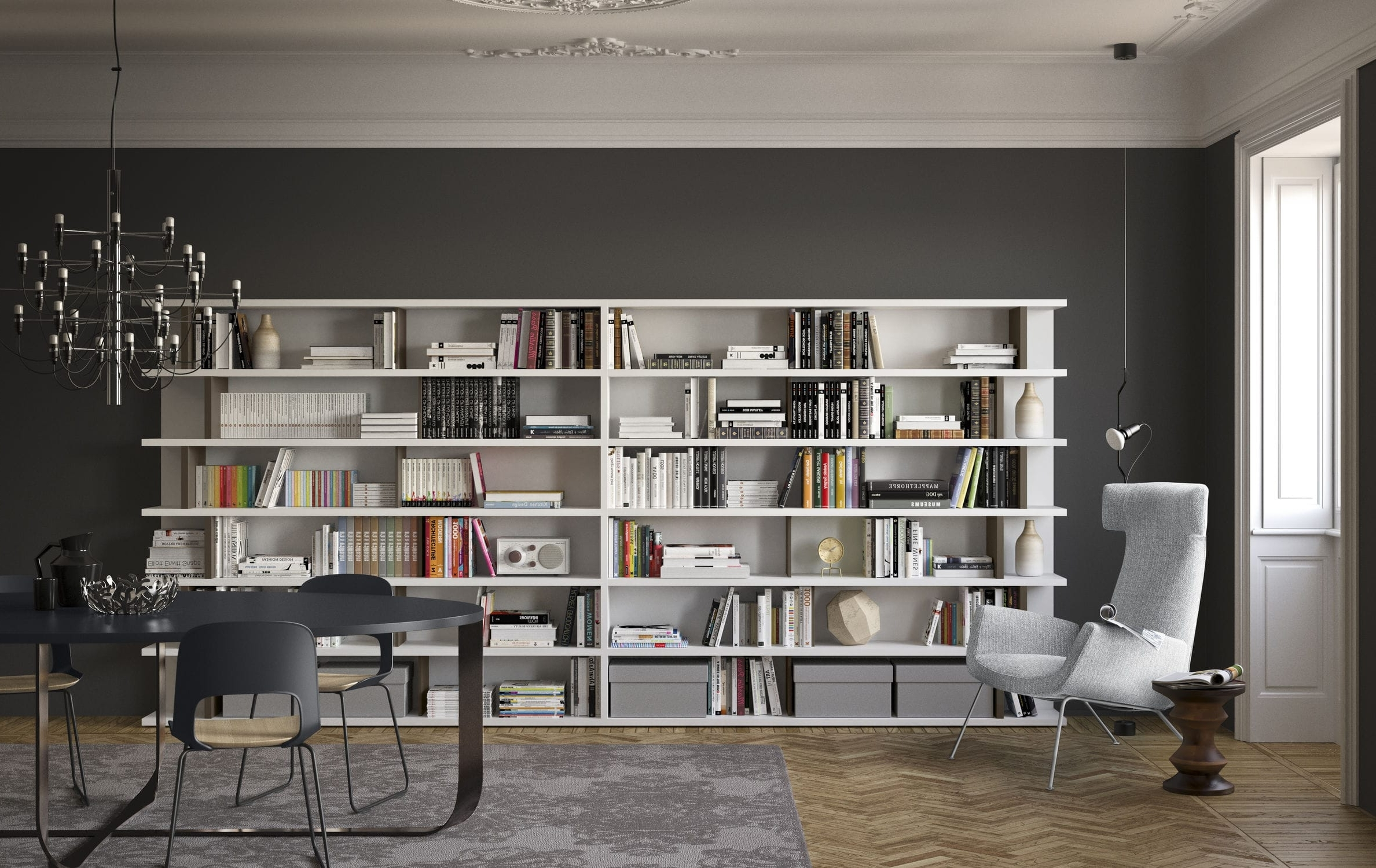 Well Liked Floor To Ceiling Bookcase / Corner / Wall Mounted / Modular With Floor To Ceiling Bookcases (View 14 of 15)