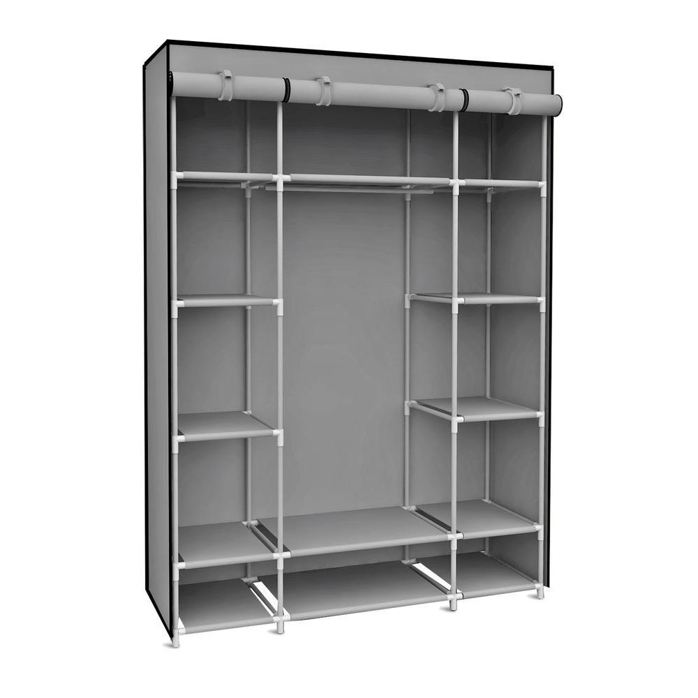 Well Liked Hanging Wardrobes Shelves Pertaining To Closet Storage : 6 Shelf Hanging Closet Organizer Horizontal (View 15 of 15)