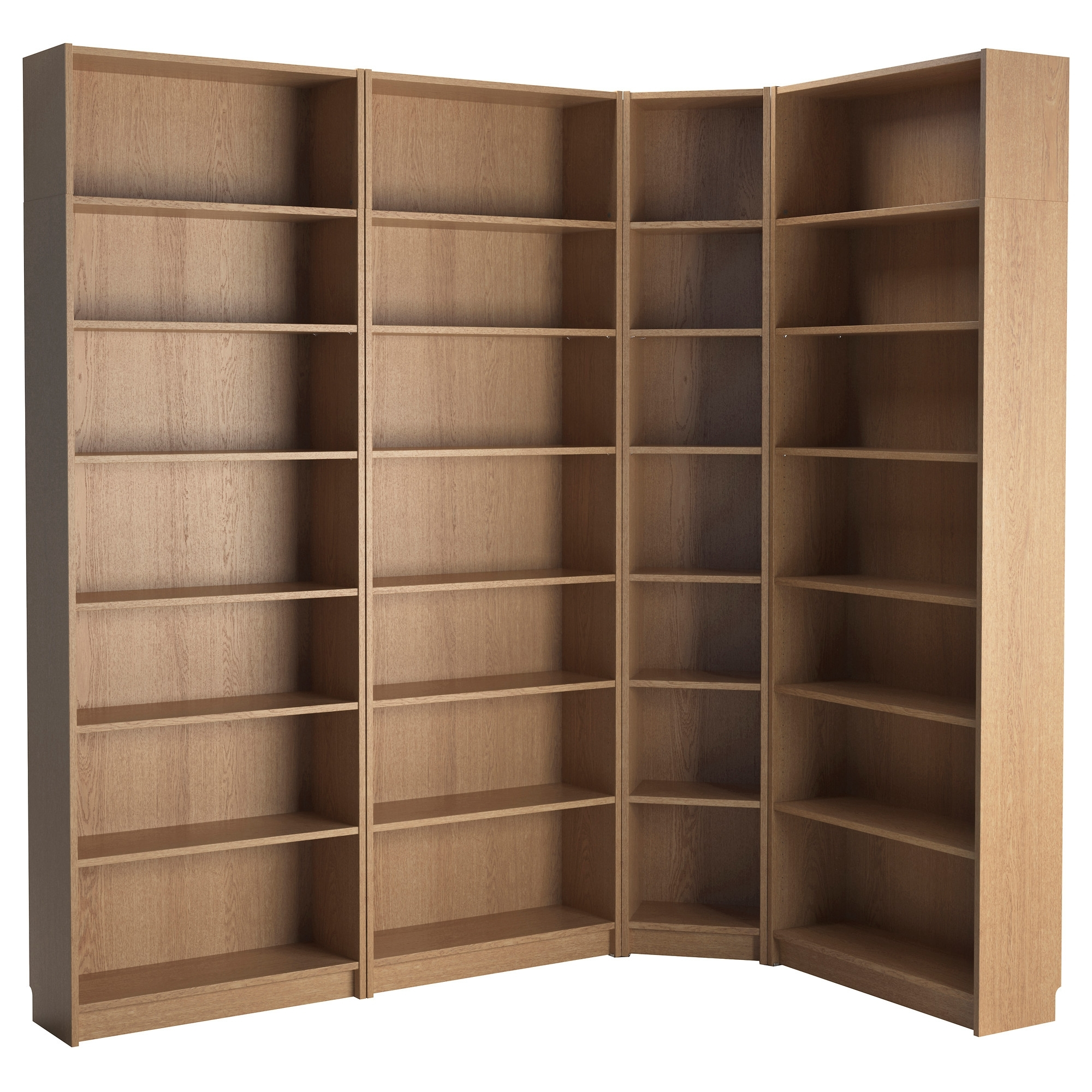 Well Liked Ikea Corner Bookcases With Regard To Billy Bookcase Oak Veneer 215/135X237X28 Cm – Ikea (View 14 of 15)