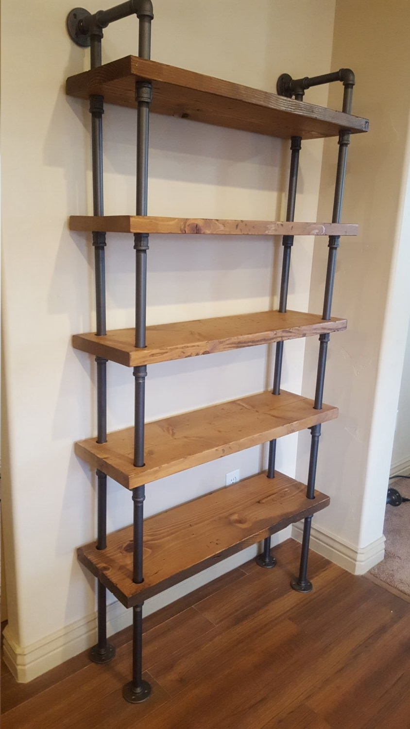 Well Liked Industrial Bookcases For Pipe Shelving Unit / Pipe Bookcase / Industrial Book Case (View 14 of 15)