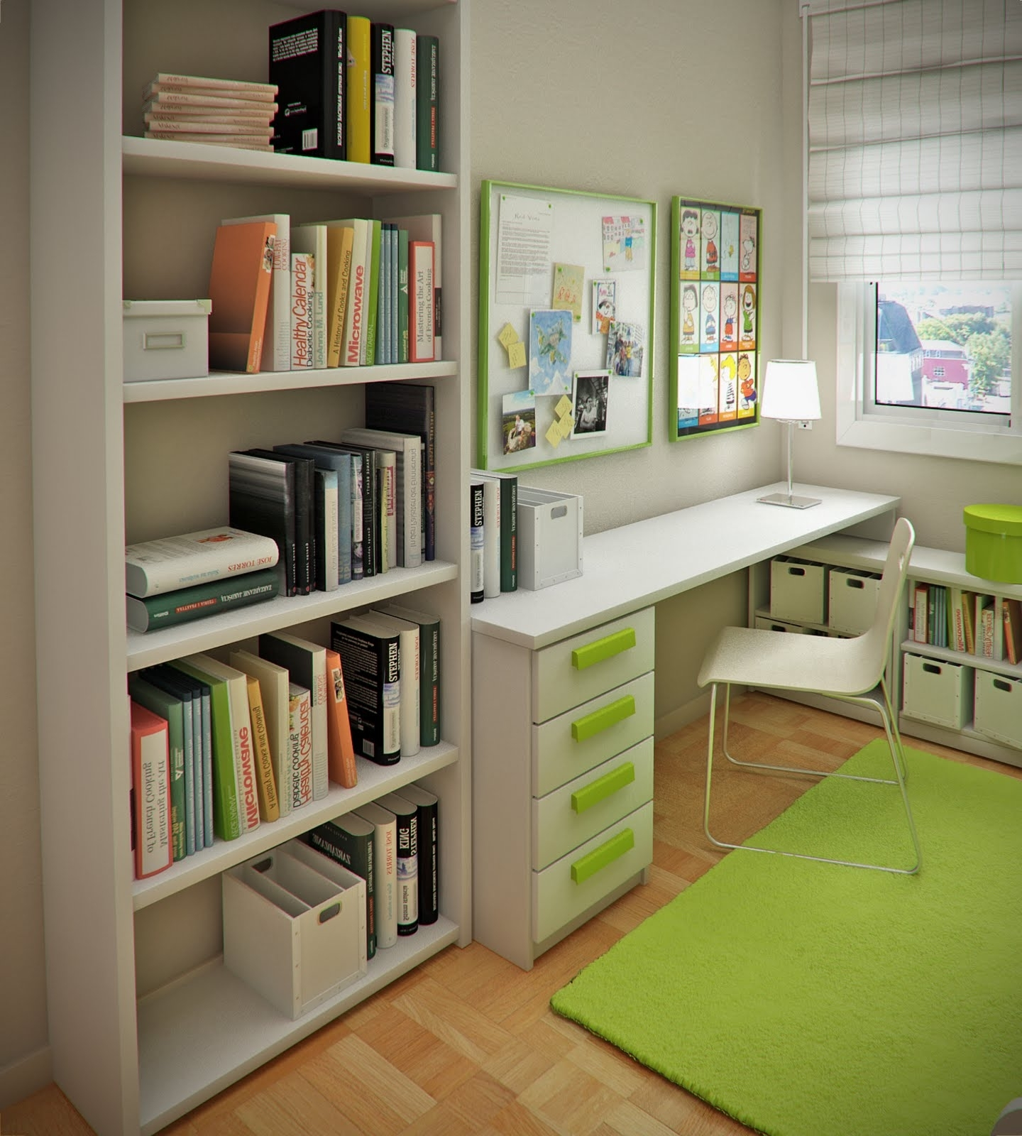 Well Liked Others : Awesome Study Room Design Ideas For Your Inspirations With Regard To Study Desk With Bookshelves (View 14 of 15)