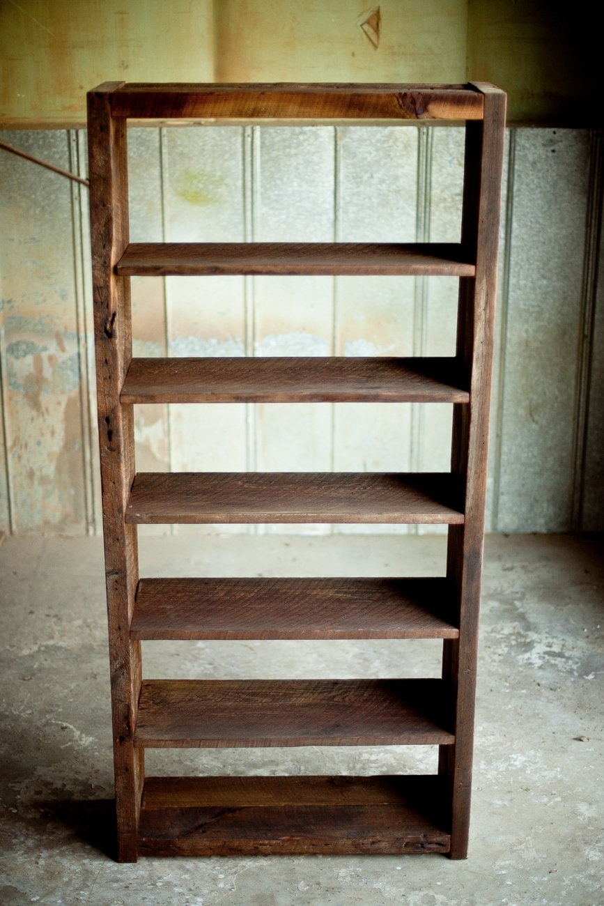 Well Liked Reclaimed Wood Bookshelf (View 6 of 15)