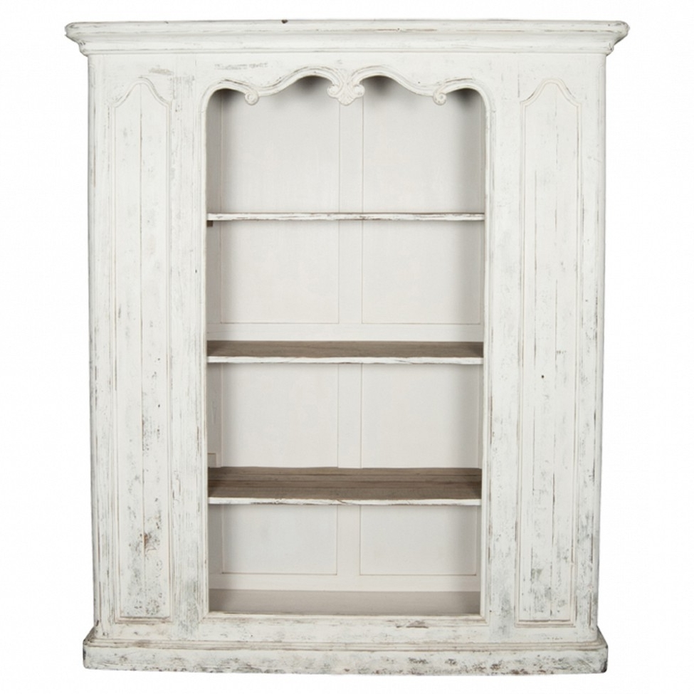 Well Liked Shabby Chic Distressed Chalk White Bookcase : 10 Wonderful Shabby For Distressed Bookcases (View 15 of 15)