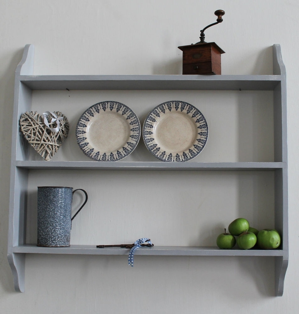 Well Liked Wall Shelves Design: Kitchen Wall Shelving Units With Baskets Intended For Painted Shelving Units (View 8 of 15)