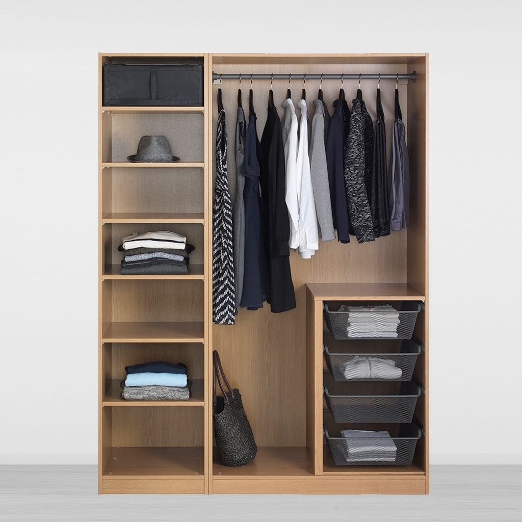 Well Liked Wardrobe Design : Ikea Closet Systems Online Design Build Shelves Inside Large Double Rail Wardrobes (View 8 of 15)