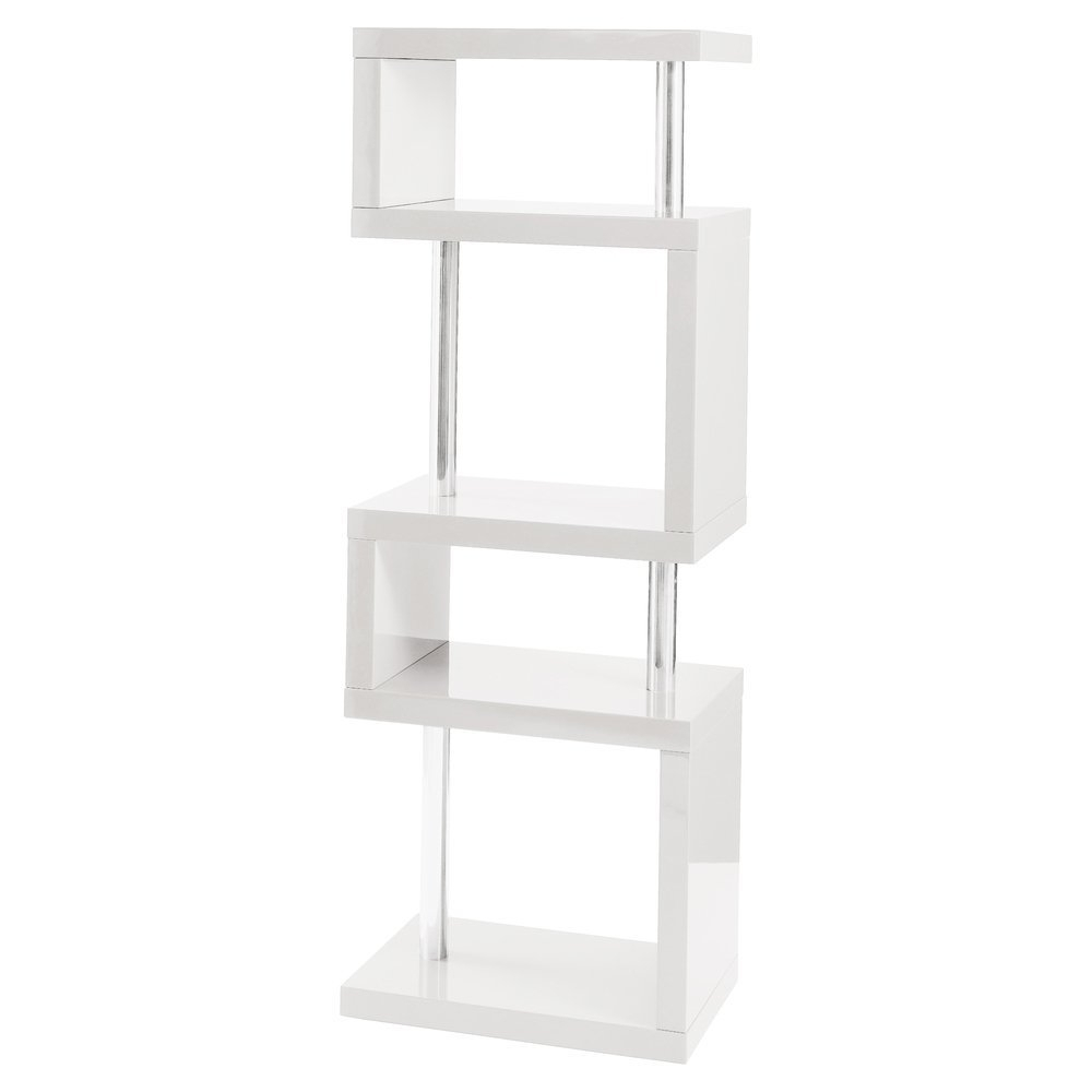 Well Liked White Shelving Units Regarding Free Delivery#modern Designer Tall Square Gloss White, Black, Grey (View 11 of 15)
