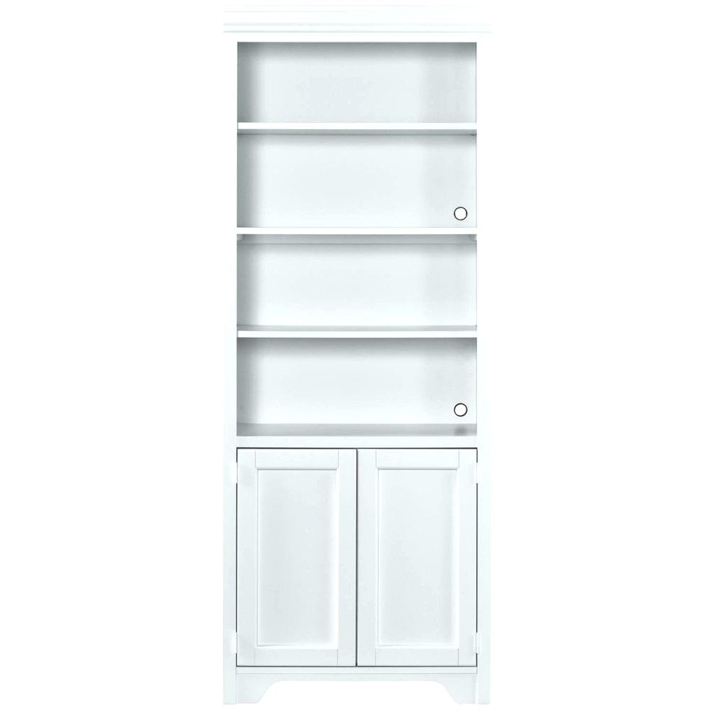 White Bookcases With Doors For Famous Bookcases With Doors Bookcase Door Ikea Hack Bookcases With Glass (View 11 of 15)