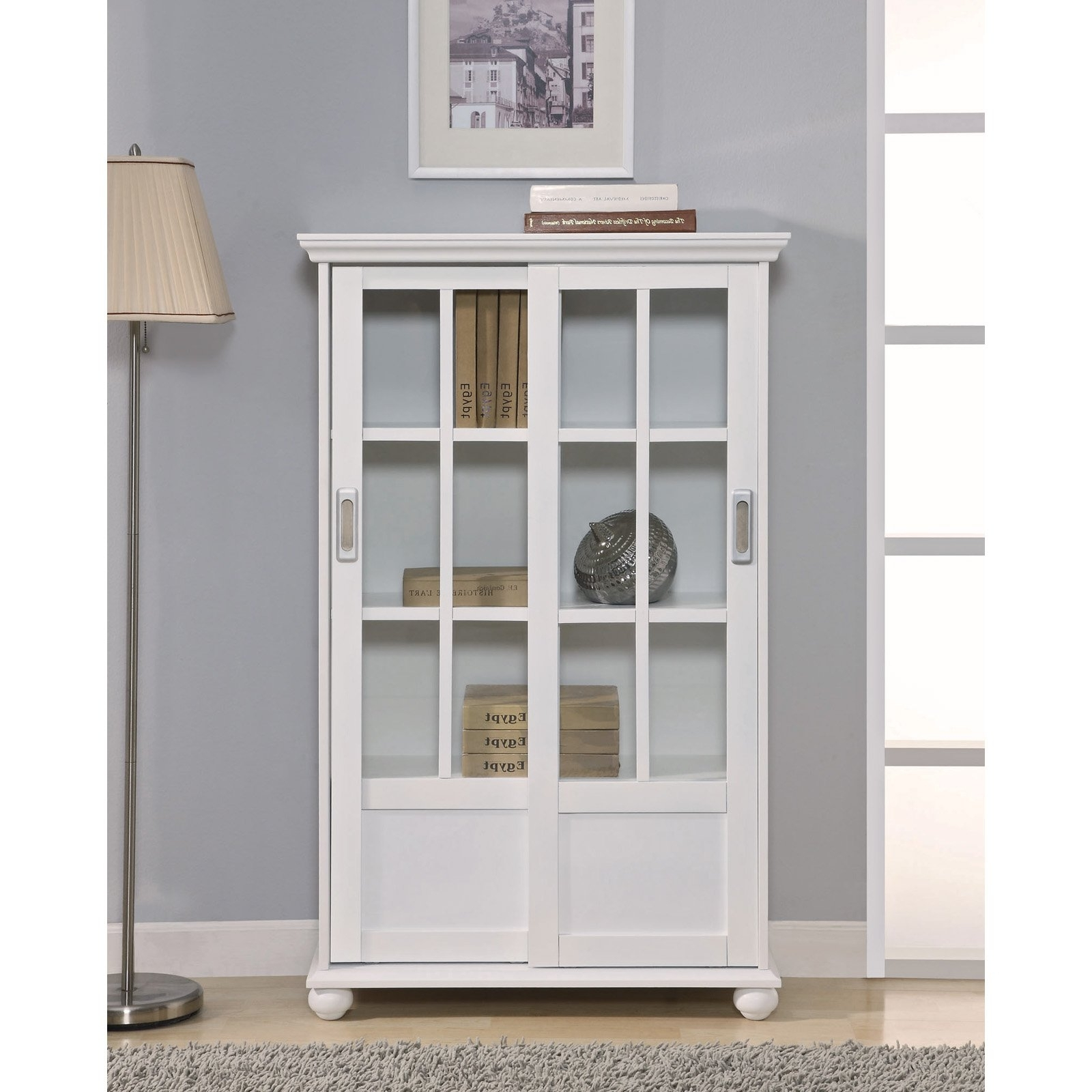 White Bookcases With Glass Doors With Regard To Fashionable White Bookcase With Glass Doors : Doherty House – Choosing (View 4 of 15)