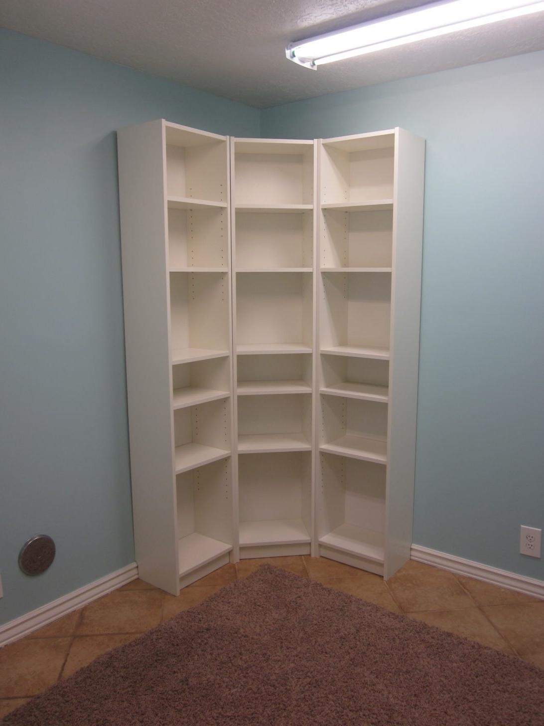 White Corner Bookcase Unit Ikea Walmart Bookcases Furniture With Regard To Trendy Ikea Corner Bookcases (View 15 of 15)