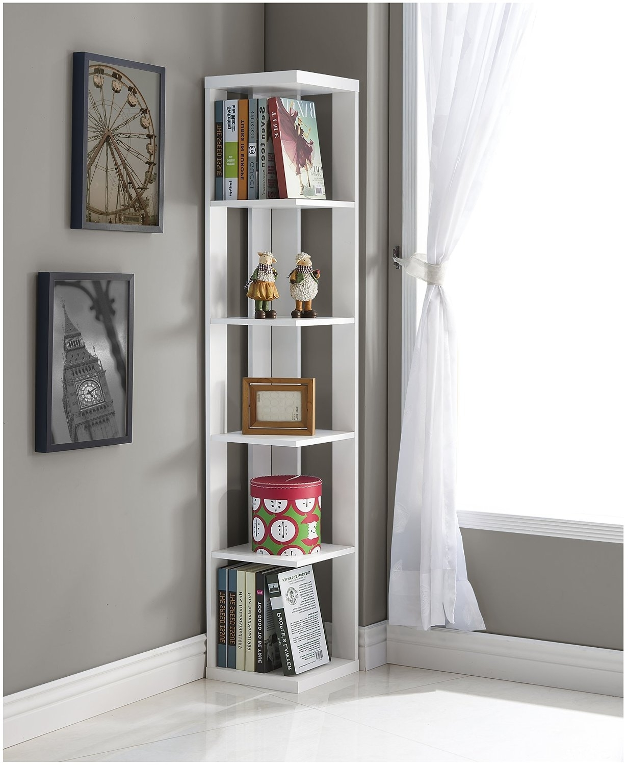 White Corner Bookcases Regarding Best And Newest Top 25+ Corner Bookshelf And Corner Bookcase Review (View 1 of 15)