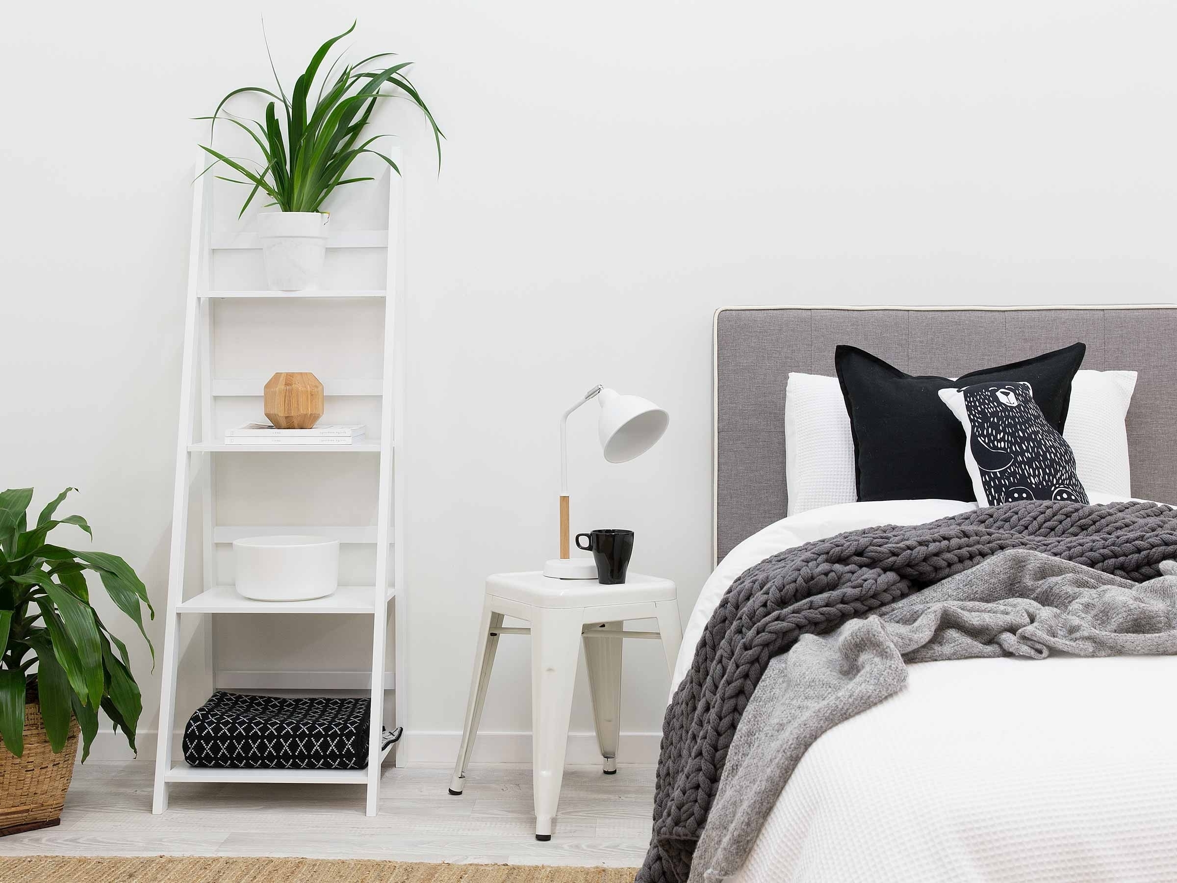 White Ladder Shelf For Well Known White Ladder Shelf Big W (View 10 of 15)