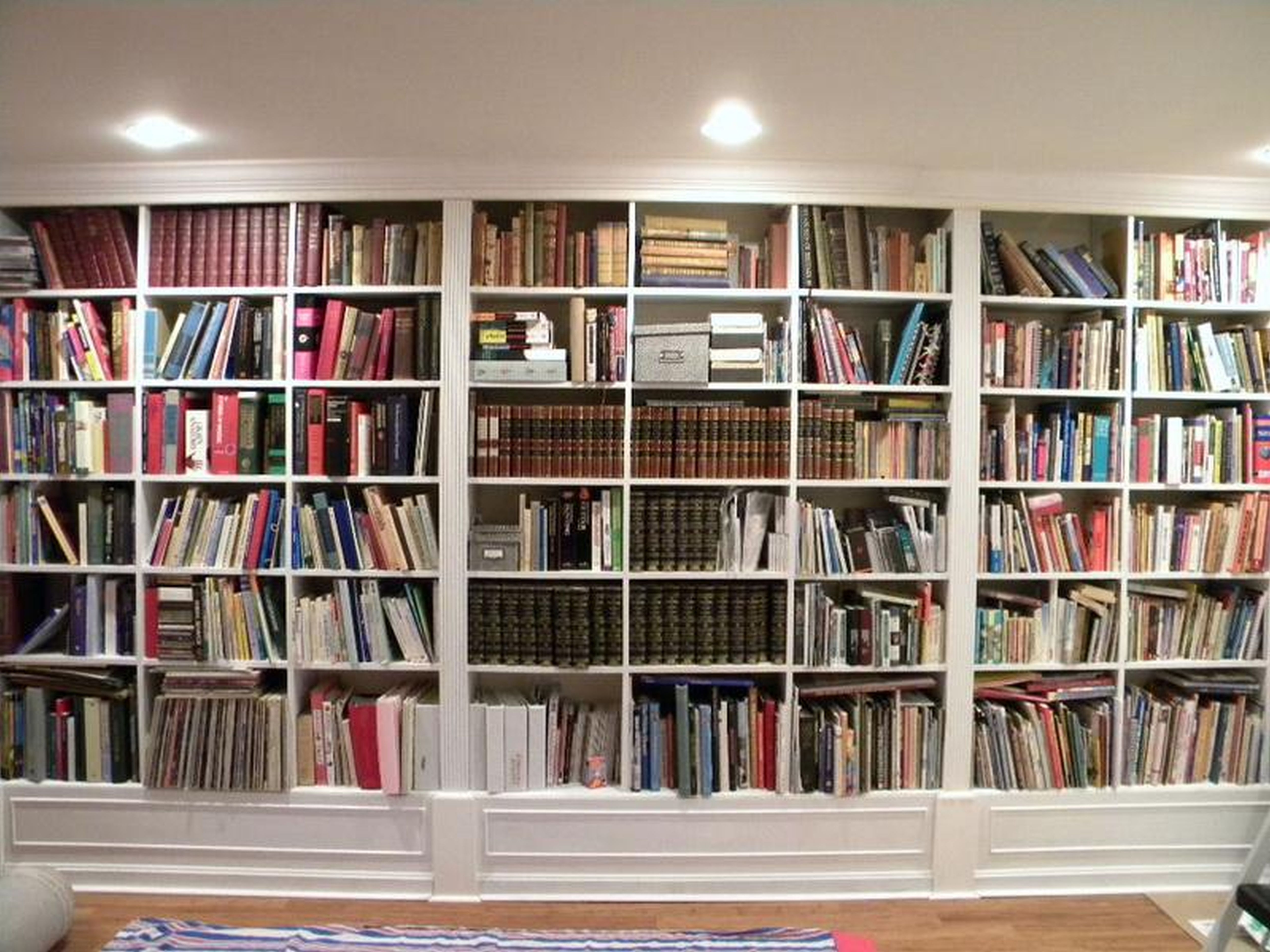 Featured Photo of White Library Bookcases