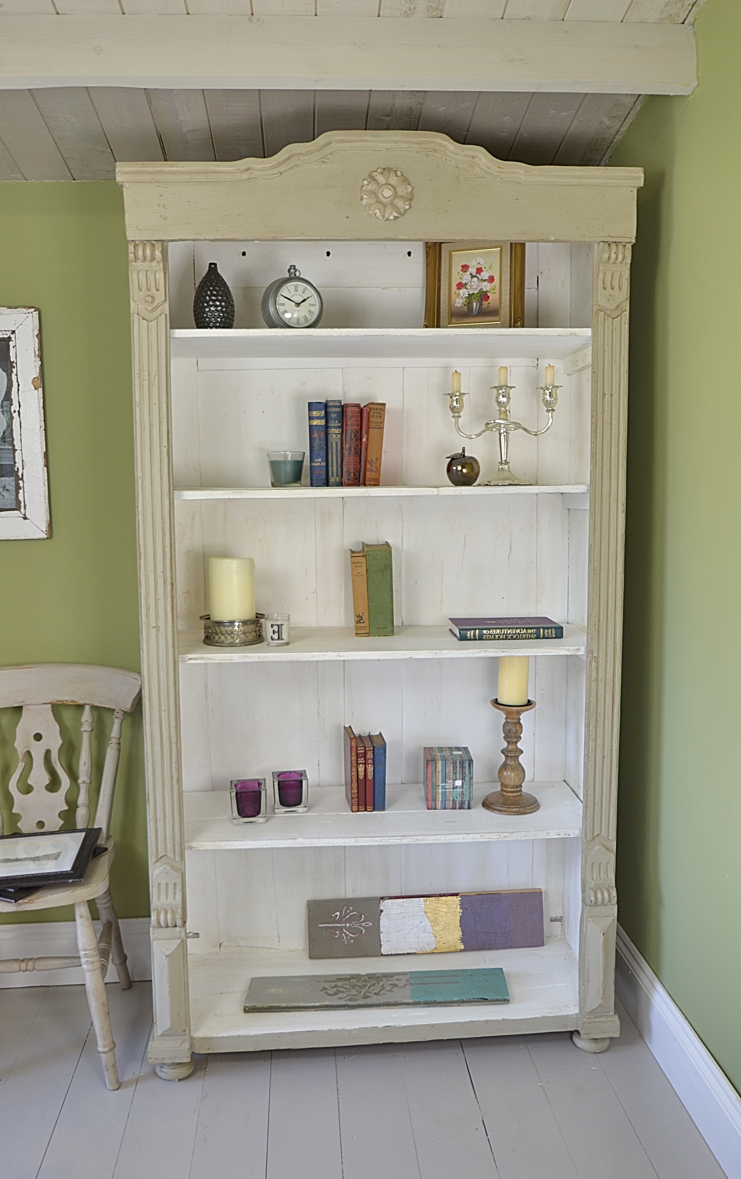 White Painted Bookcases Inside Famous This Beautiful Antique Bookcase Has Been Painted In Farrow & Ball (View 14 of 15)