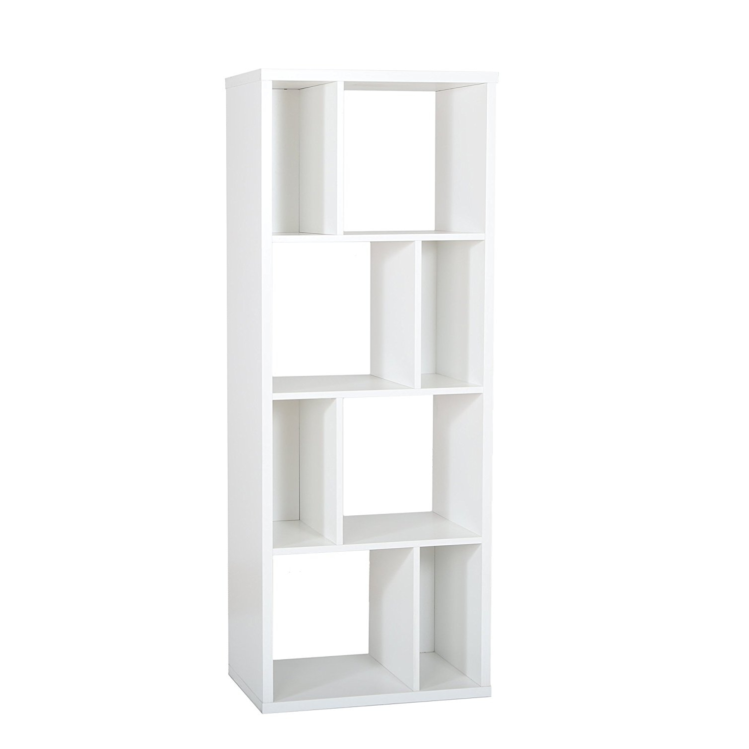 White Shelving Units Inside Fashionable Amazon: South Shore Reveal Shelving Unit With 8 Compartments (View 13 of 15)