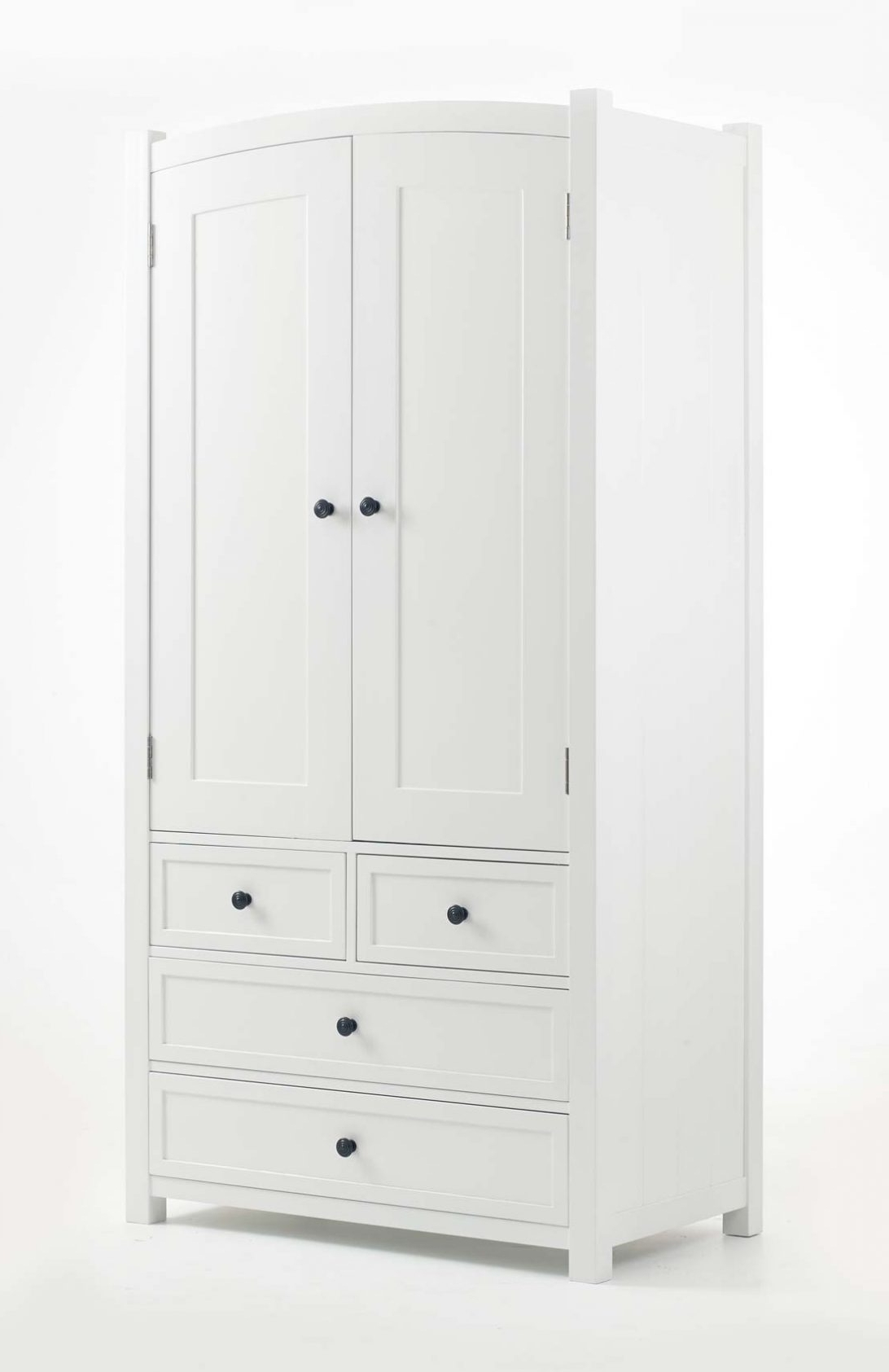 White Wardrobe With Drawers And Shelves Sliding Door Wood In Fashionable Double Wardrobes With Drawers And Shelves (View 15 of 15)