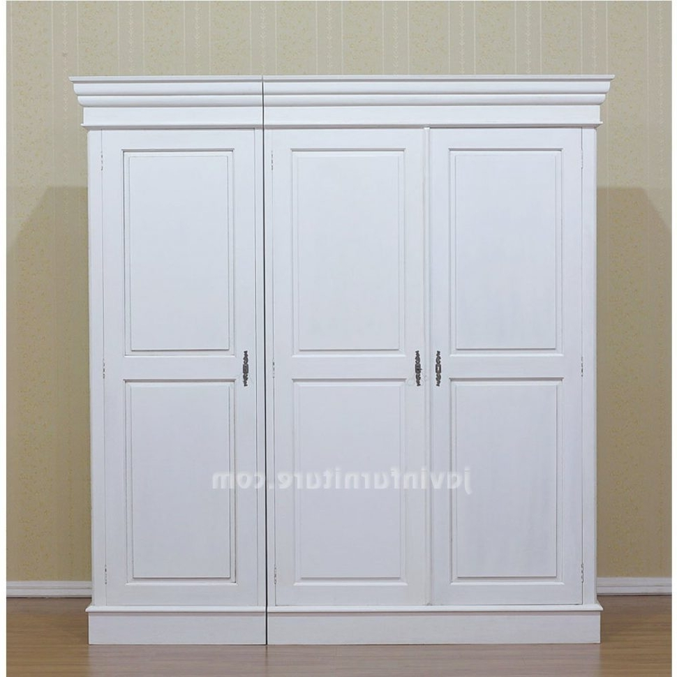 White Wardrobes Armoire Within Most Up To Date Furniture : Wardrobe Cabinets With Doors Buy Wardrobe Closet Short (View 6 of 15)